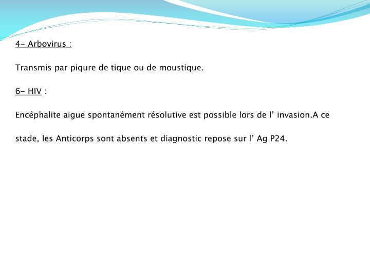 4- Arbovirus: