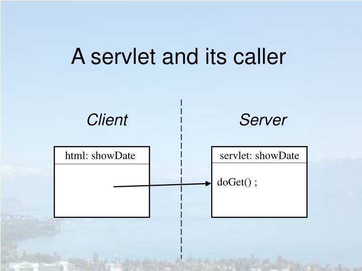 A servlet and its caller