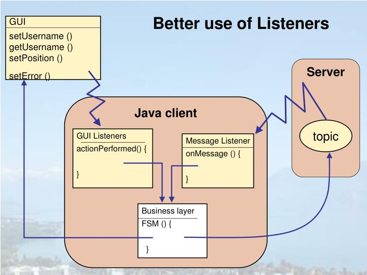 Better use of Listeners