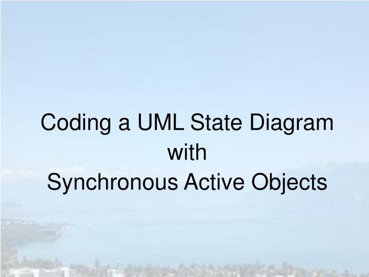 Coding a UML State Diagram