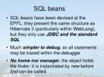 sql beans