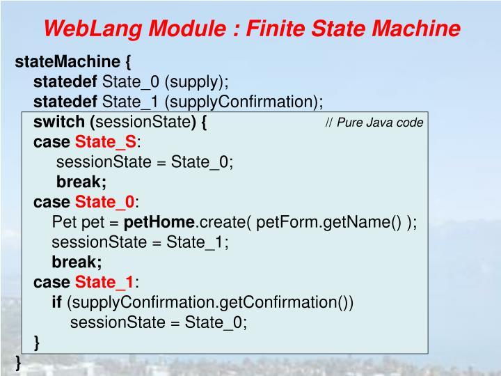 WebLang Module :