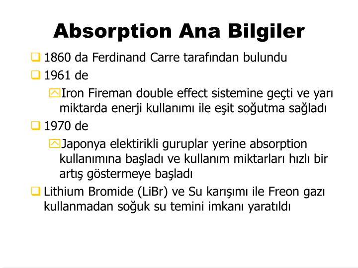 Absorption Ana Bilgiler