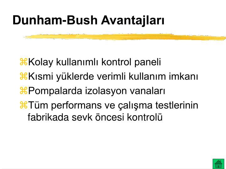 Dunham-Bush Avantajları