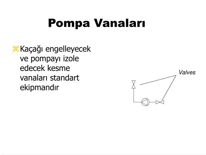 Pompa Vanaları