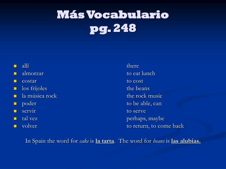 Más Vocabulario