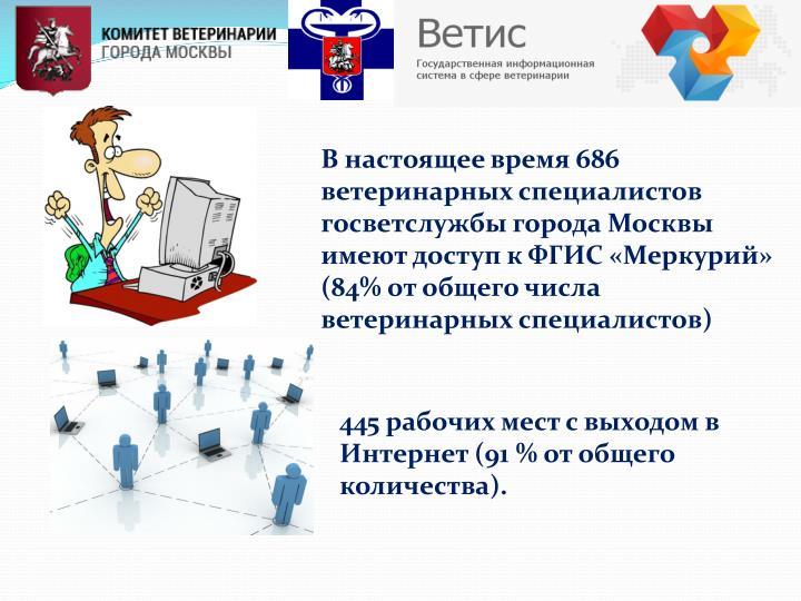В настоящее время 686 ветеринарных специалистов