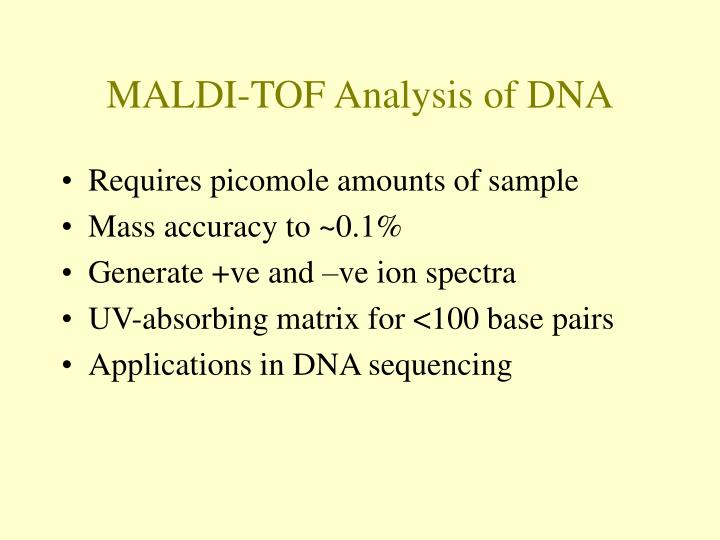 MALDI-TOF Analysis of DNA