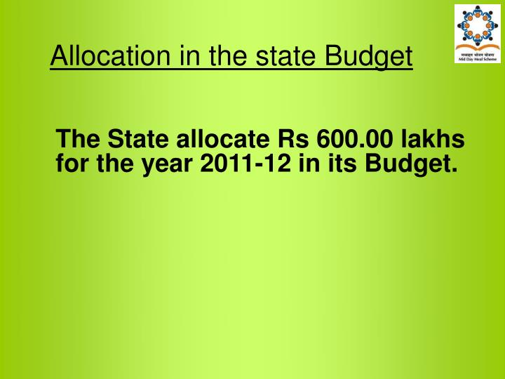 Allocation in the state Budget