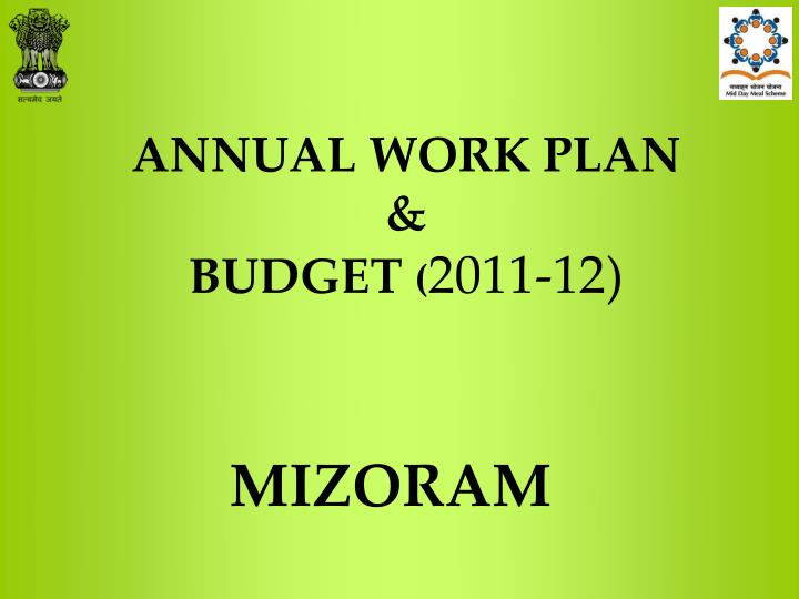 Annual work plan budget 2011 12