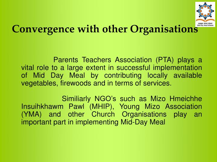 Convergence with other Organisations