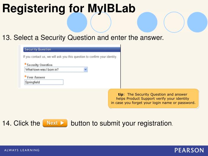 Registering for MyIBLab