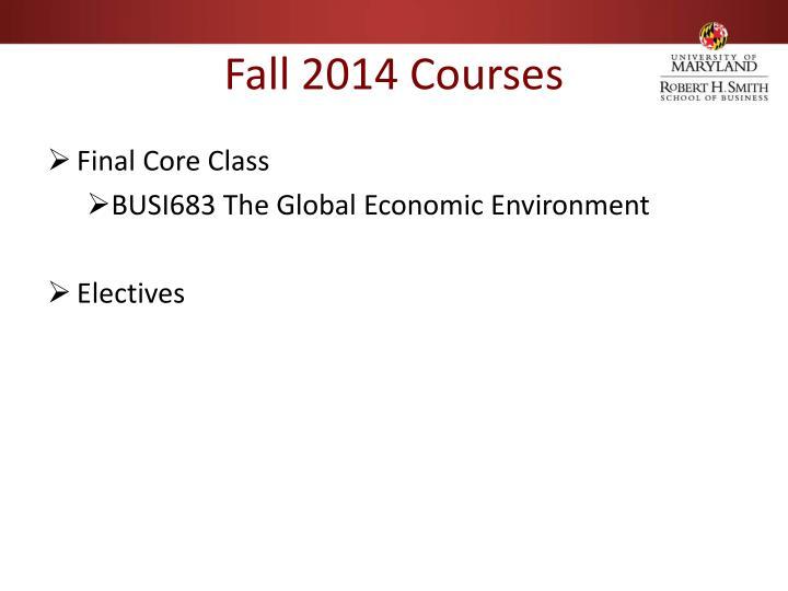 Fall 2014 Courses