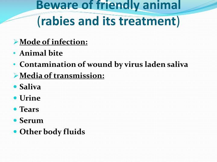 Beware of friendly animal