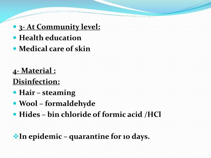 3- At Community level: