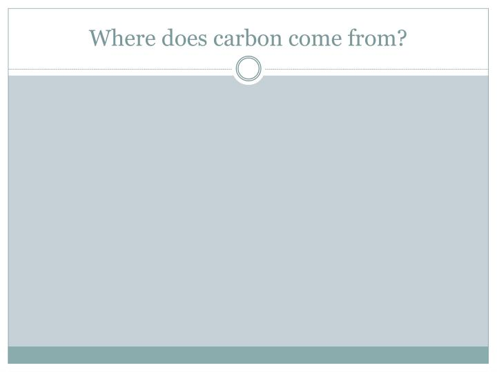 Where does carbon come from?