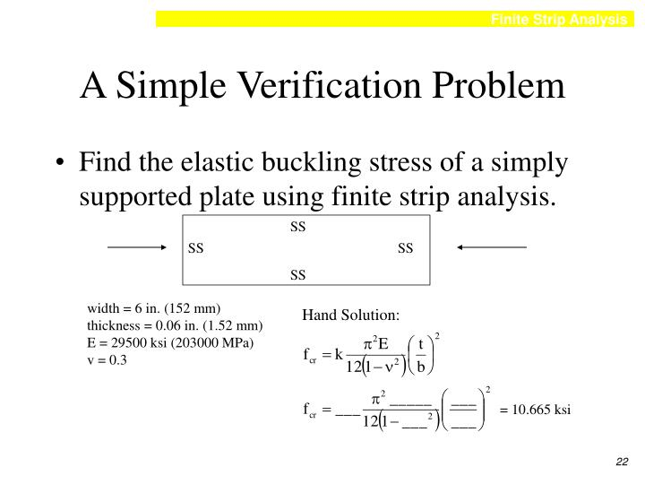 A Simple Verification Problem