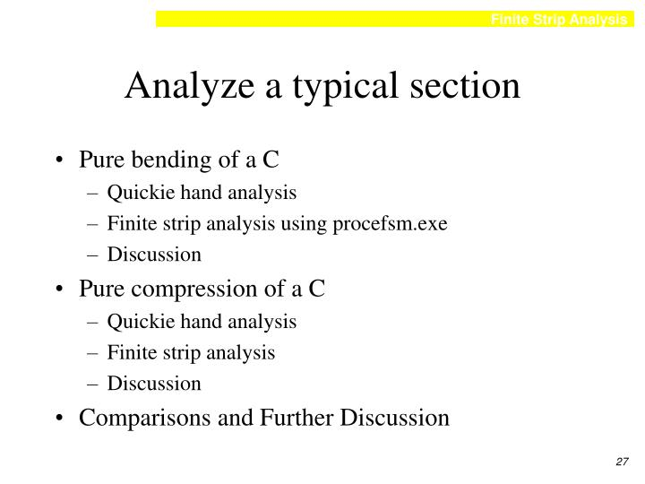 Analyze a typical section