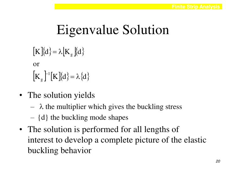 Eigenvalue Solution