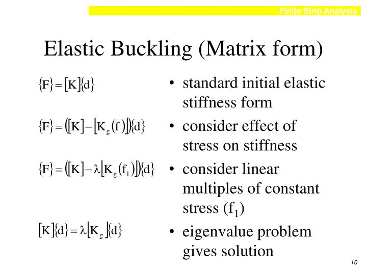 Elastic Buckling (Matrix form)