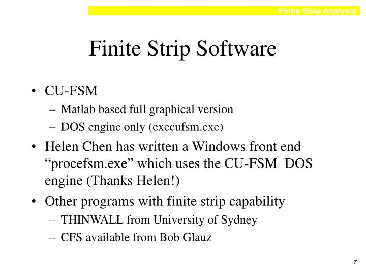 Finite Strip Software