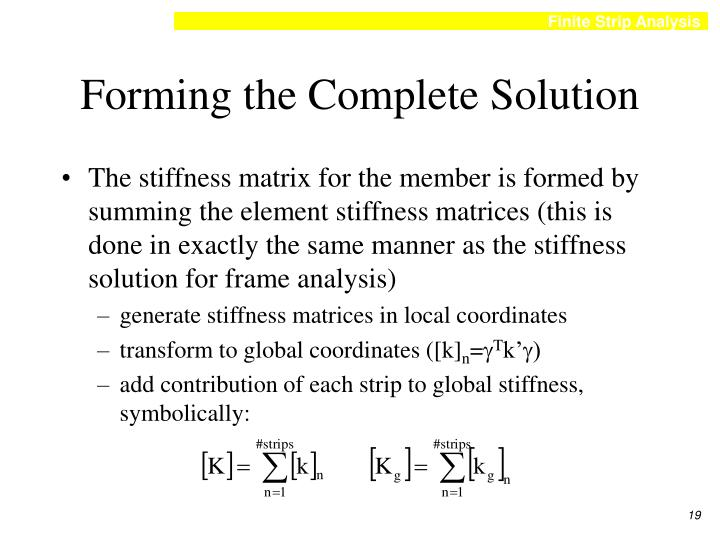 Forming the Complete Solution