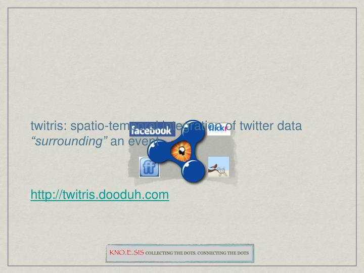 twitris: spatio-temporal integration of twitter data