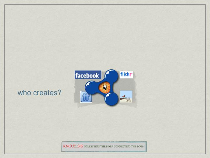 who creates?