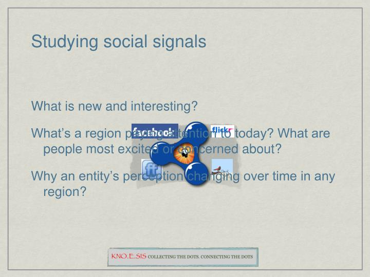 Studying social signals