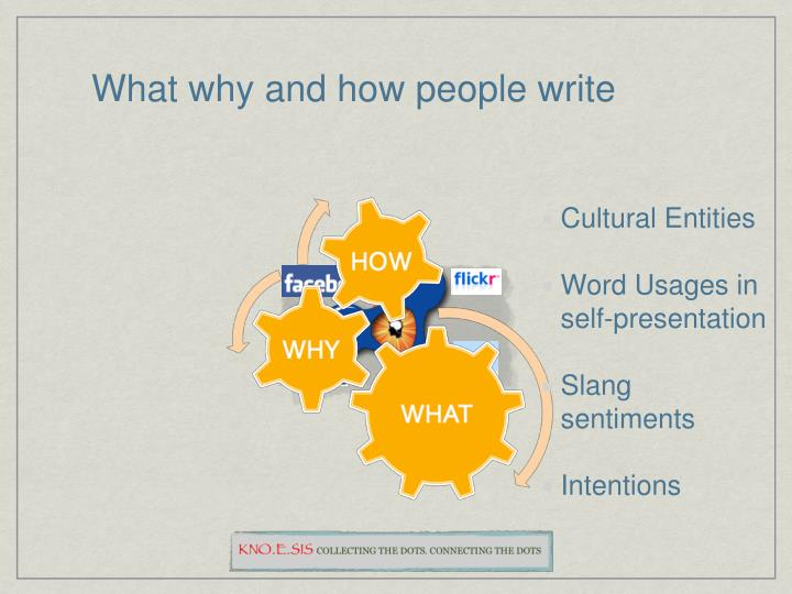 What why and how people write