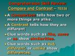 comprehension skill review compare and contrast te538