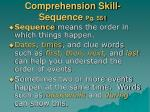comprehension skill sequence pg 551