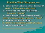 practice word structure pb215