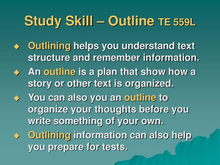Study Skill – Outline