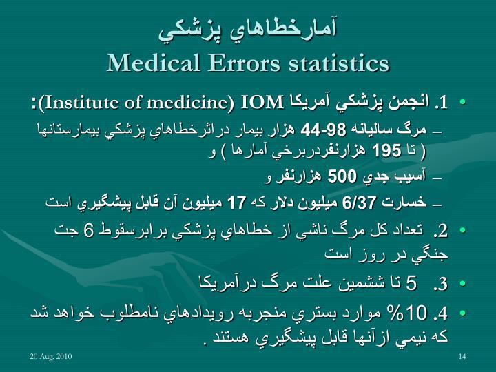 آمارخطاهاي