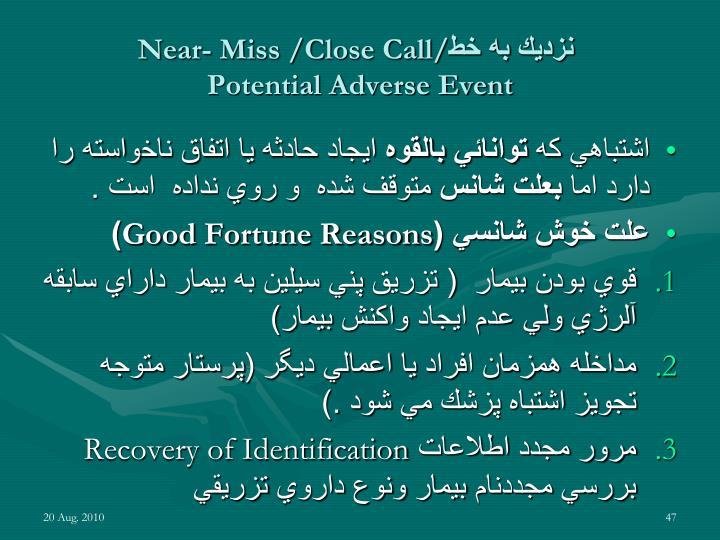 Near- Miss /Close Call/