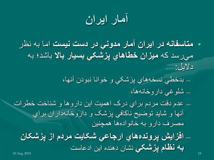 آمار ايران