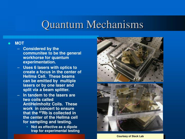 Quantum Mechanisms
