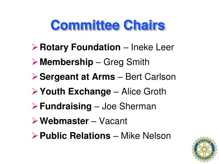 Committee Chairs