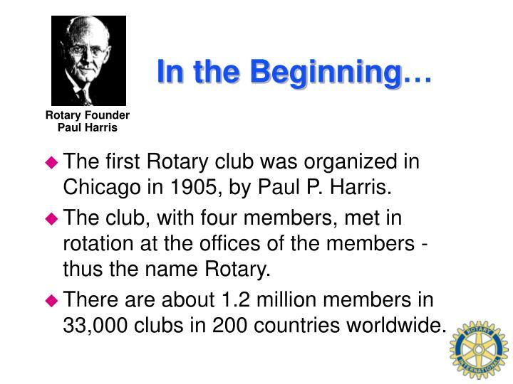 Rotary Founder