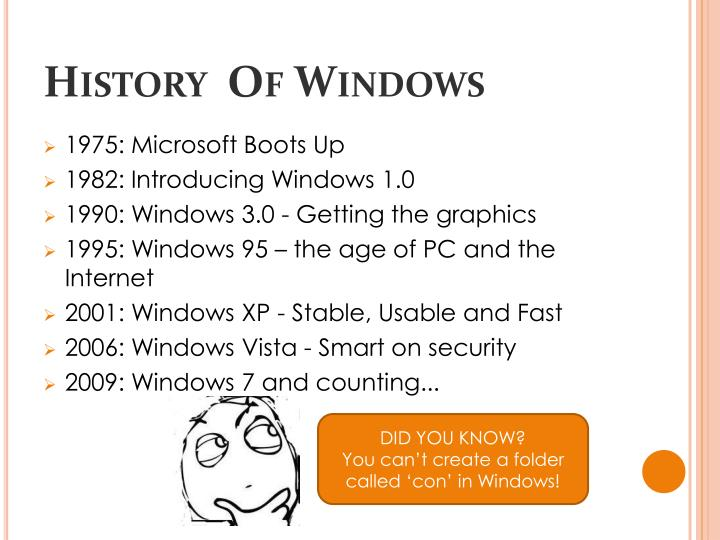 History  Of Windows