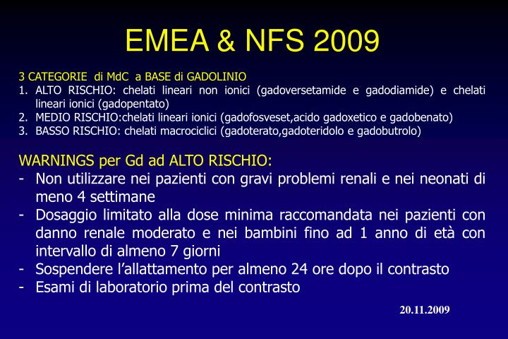 EMEA & NFS 2009
