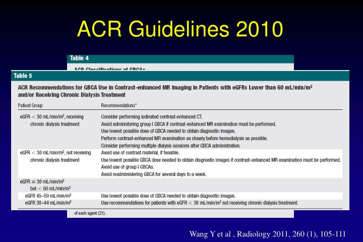 ACR Guidelines 2010
