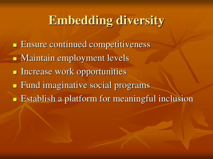 Embedding diversity