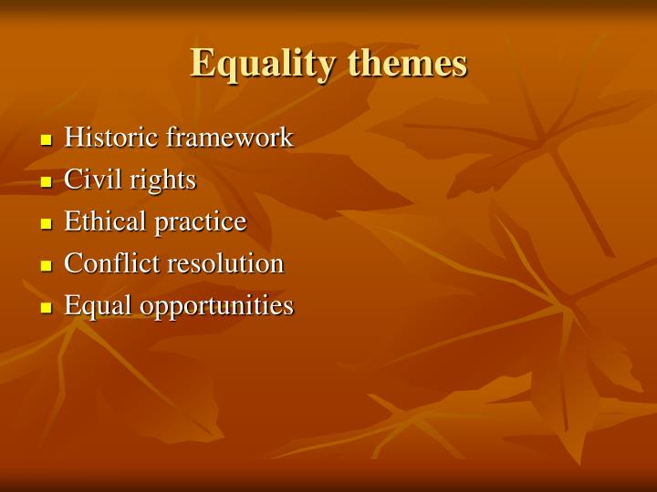 Equality themes