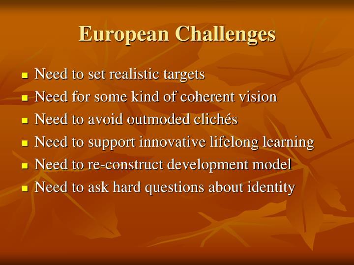 European Challenges