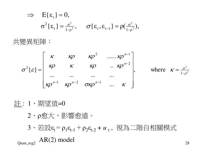 共變異矩陣:
