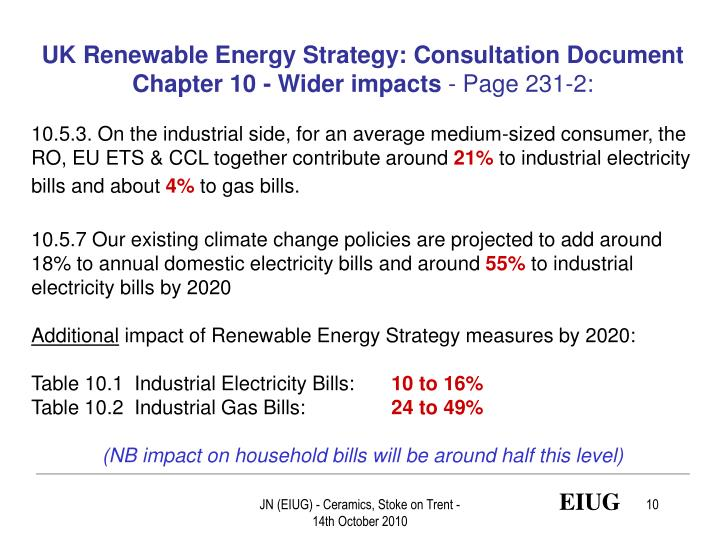 UK Renewable Energy Strategy: Consultation Document