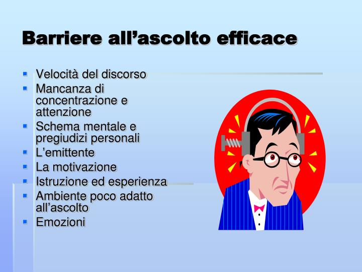 Barriere all'ascolto efficace