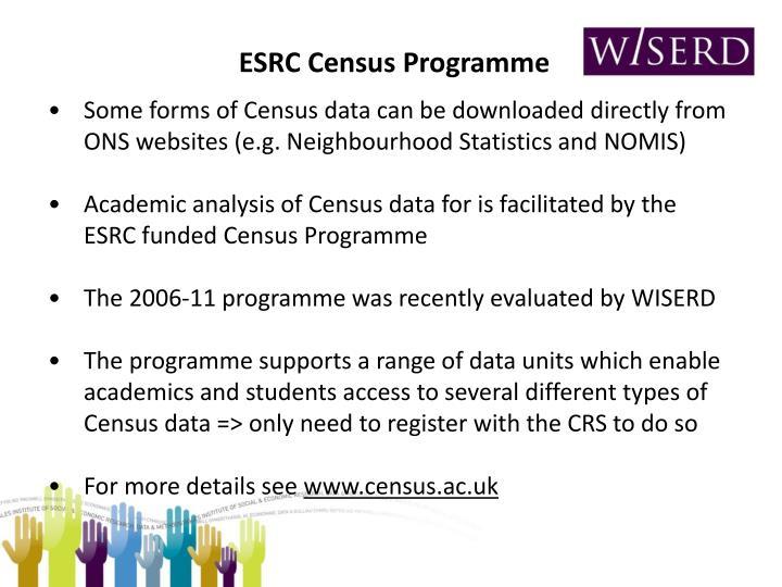 ESRC Census Programme